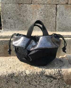 Petit sac rond «Le 650 L.A. Cuir Pailleté»