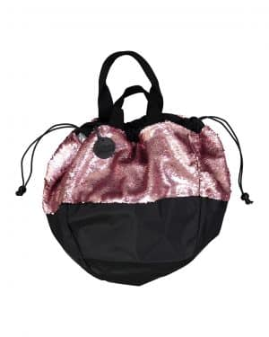 Hand bag with pink sequins