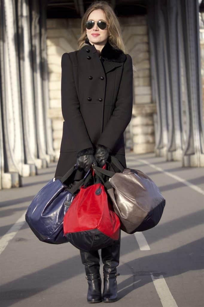 sac rond dalzotto cuir vintage