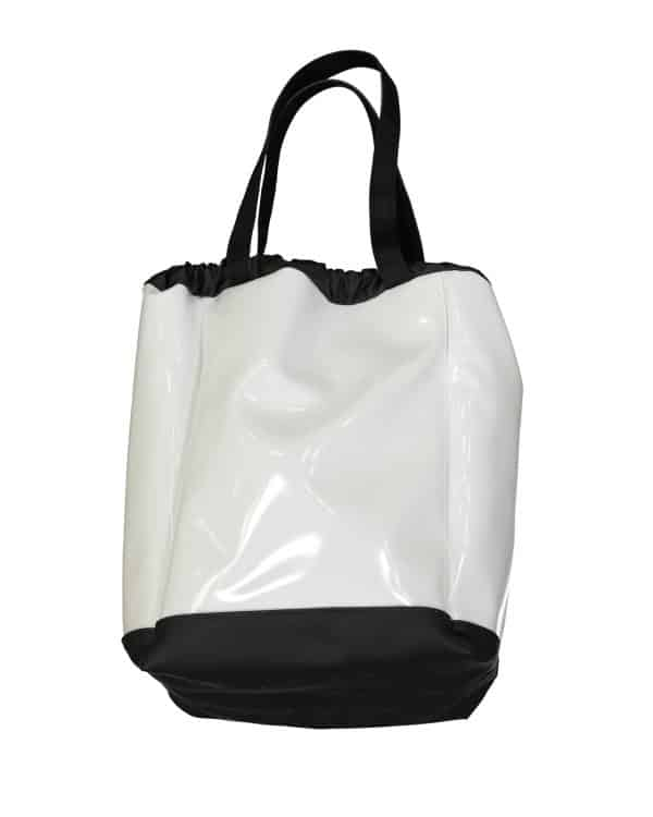 Sac cabas vernis blanc BIG BOAT, taille L