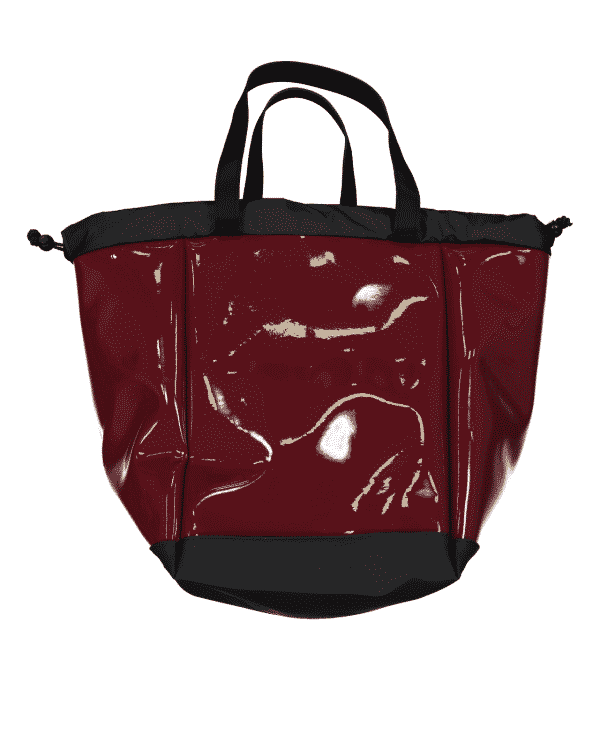 Sac cabas vernis rouge bordeaux BIG BOAT DALZOTTO