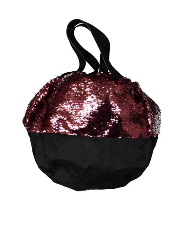 Sac LOVE AFFAIR en sequins réversibles bordeaux