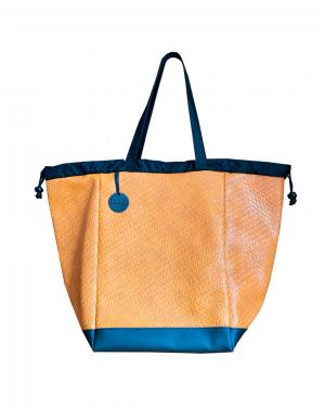 Cabas Tressé orange – taille L