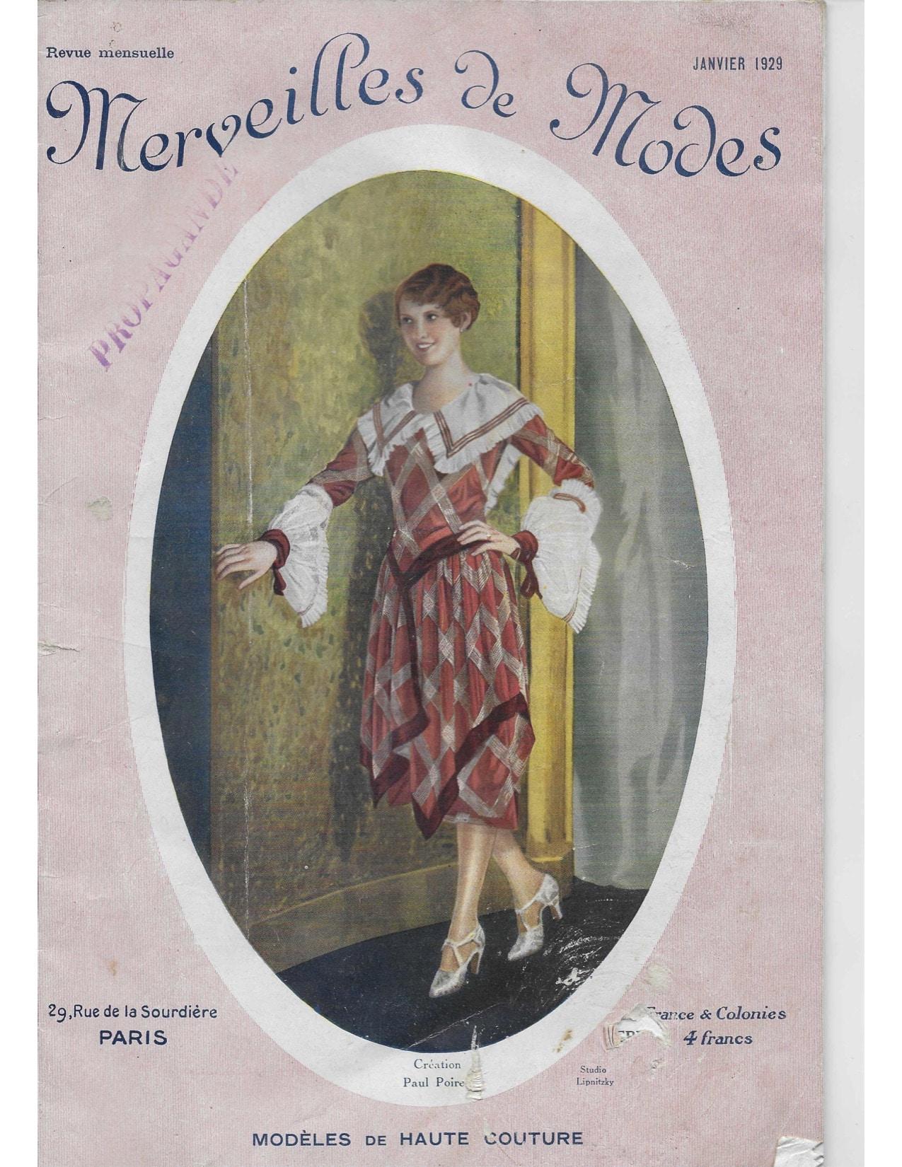 Merveilles de Modes, janvier 1929